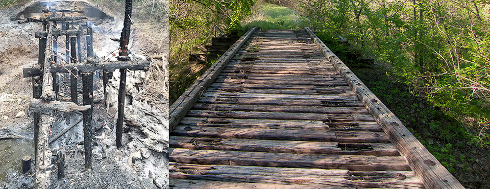 Donations Accepted to Rebuild Bridge Destroyed by Arsonists